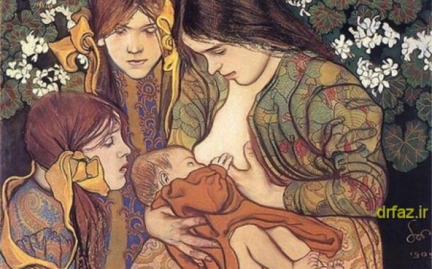 مزایای شیردهی نوزاد با شیر مادر